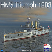 HMS Triumph 1903 World War 1 Dreadnought Battleship