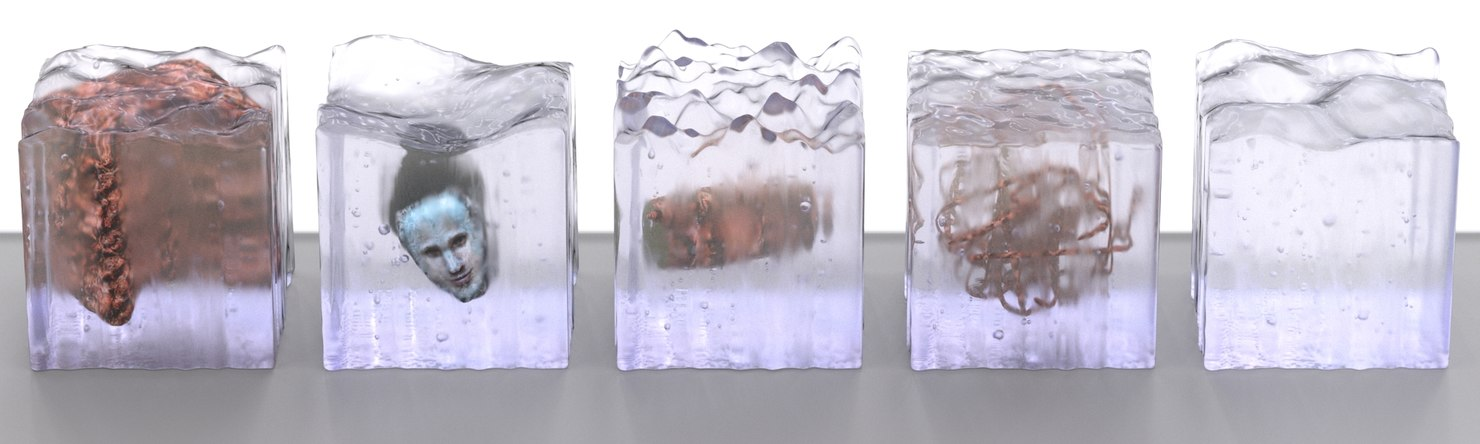 3ds max ice cubes frozen