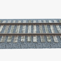 Railroad Track With Gravel
