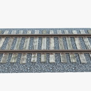 3d model railroad track gravel