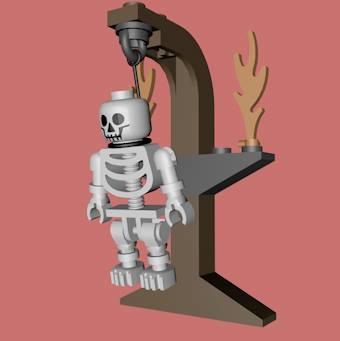 3ds max lego gallows skeleton