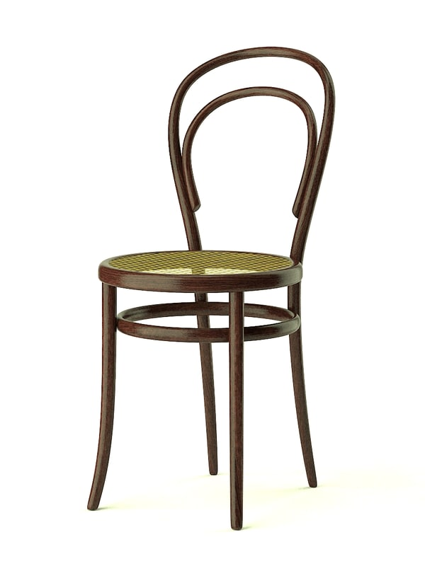 thonet n 14 chair 3ds