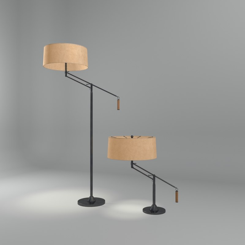 autry lamp interior 3d model