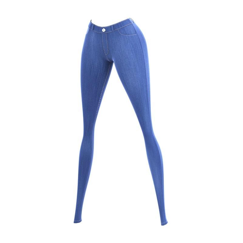 3d model jeans female cartoon