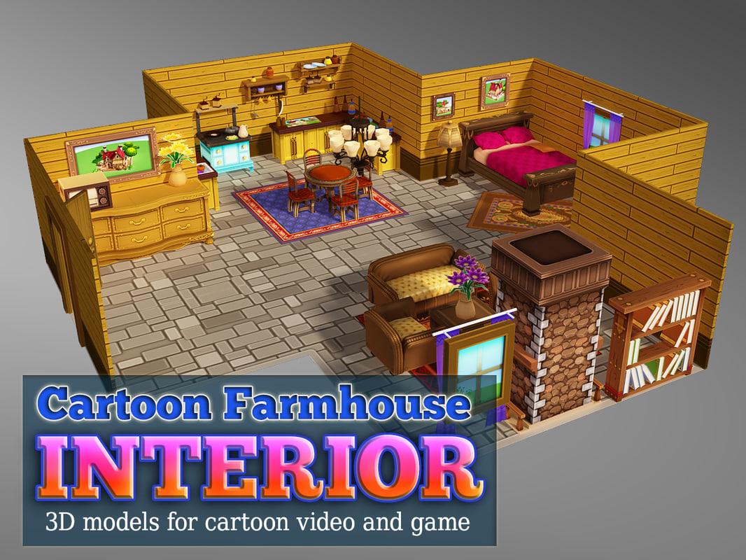 interior farm house 3d max