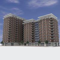 - modern brick building max