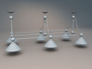 3d model snooker lights
