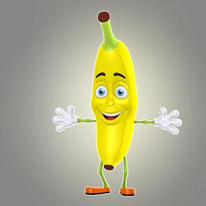 3d model cool cartoon banana