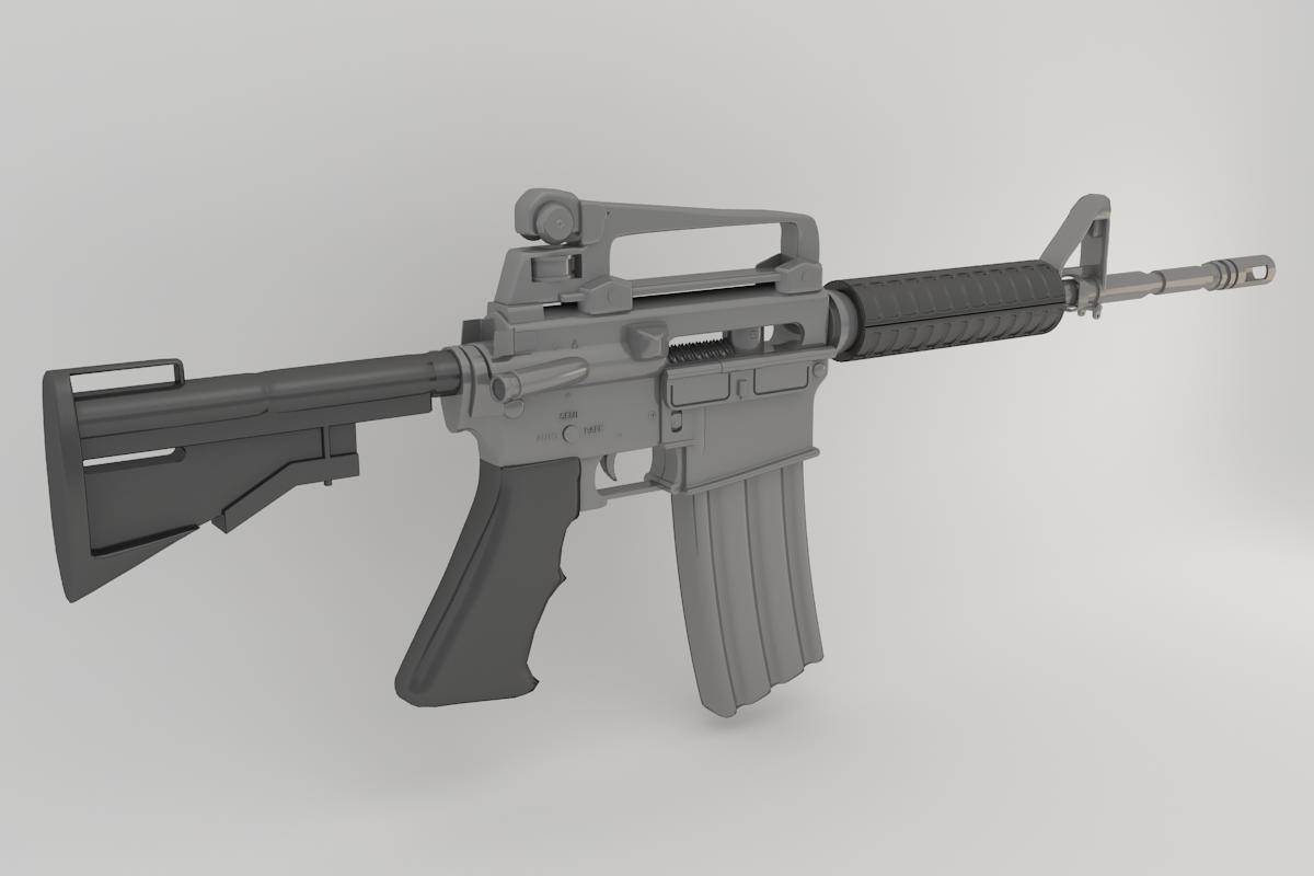 3d m4 gun