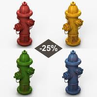 3d model hydrant set