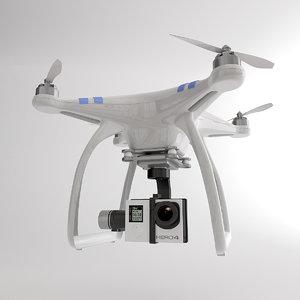 3d dji drone model