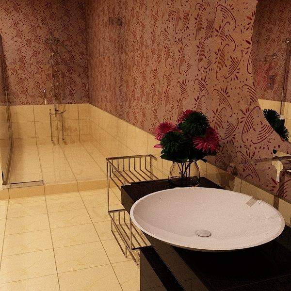 3d bathroom bath model