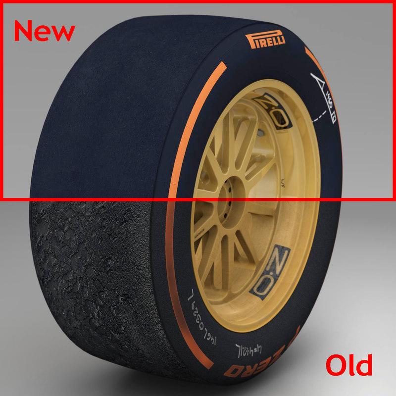 3d pirelli tyre 18 inches model