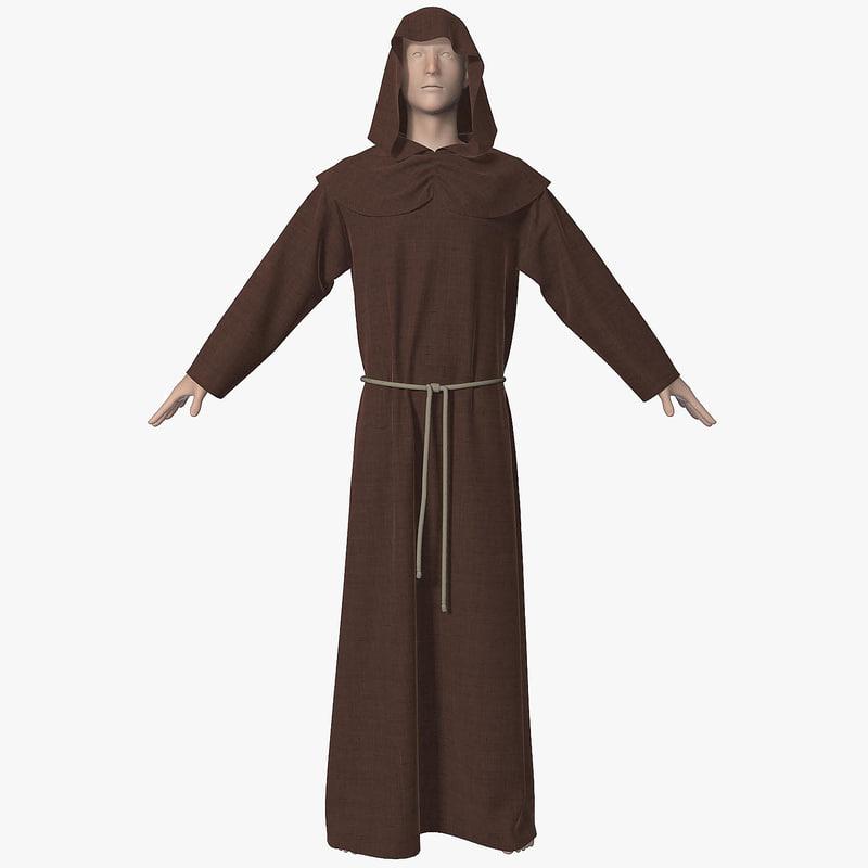 hoodie brown 3d model