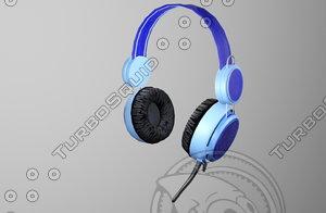 free headphone gaming gear 3d model