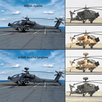 AH64E Apache Longbow AH64A Apache Helicopters Collection