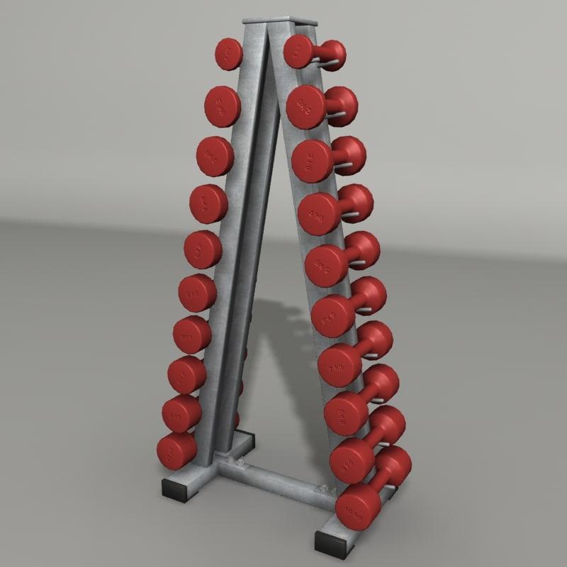 3d model dumbbell gym