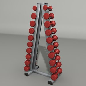 3d model dumbbell gym