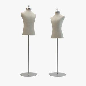 3d mannequins domenico vacca model