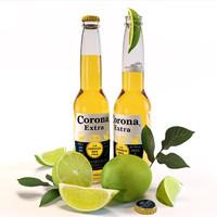 3d corona extra beer