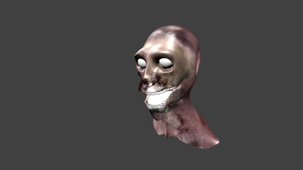 3d blend zombie rigged bump