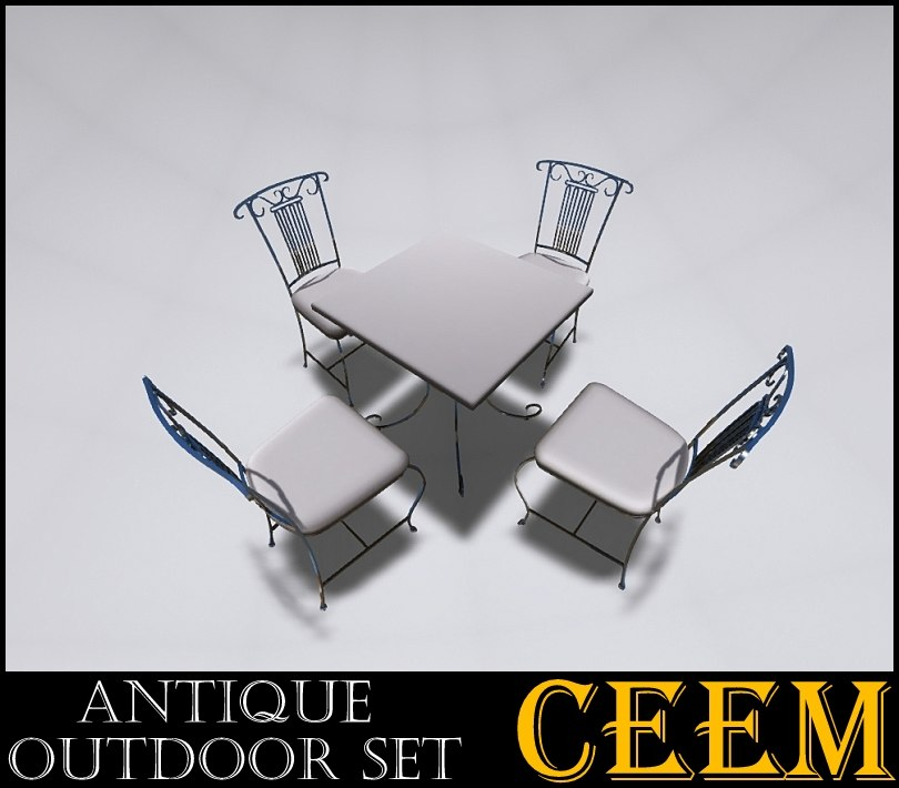 3ds max antique outdoor set