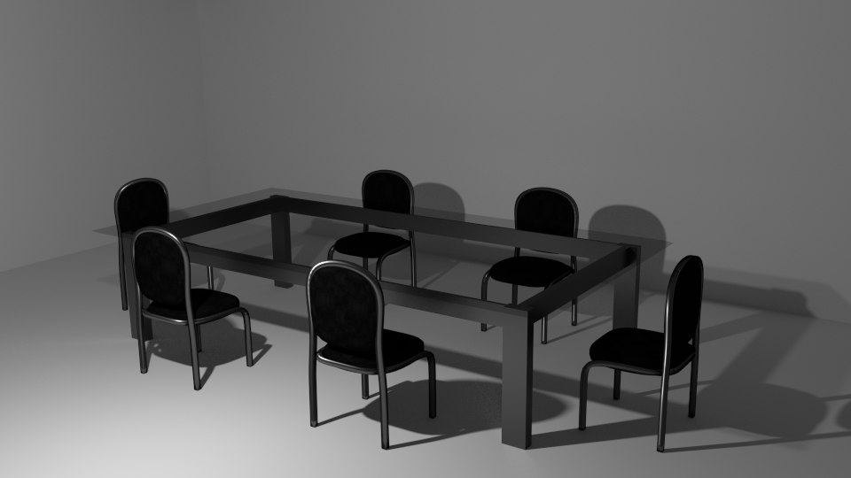 table chair 3d blend