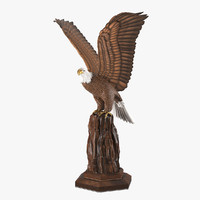 3d model realistic eagle sculpture