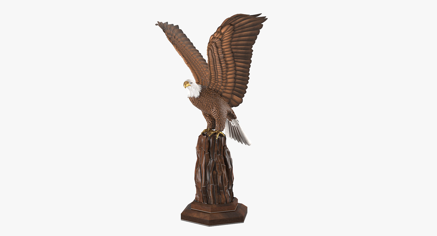 3d model realistic eagle sculpture