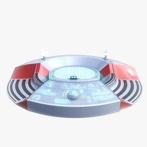 3d model sci fi turntable 0