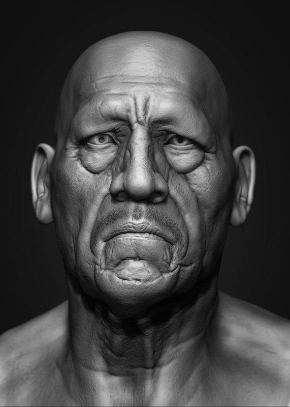 obj realistic head