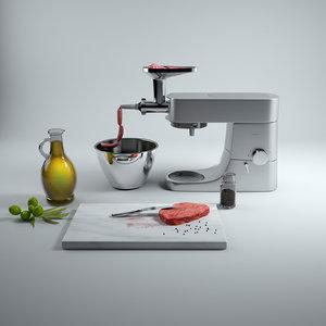 food processor - kenwood 3d model