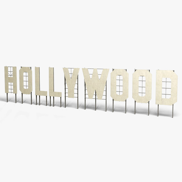 3ds hollywood sign landmark