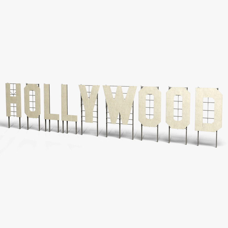 3ds hollywood sign landmark