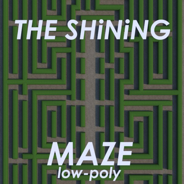 hedge maze shining low-poly 3ds