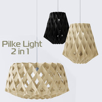 plywood lamps light 3d model
