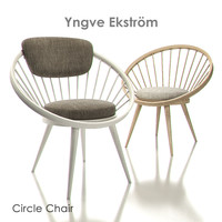 3d yngve ekstrom circle chairs model