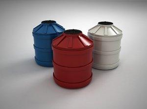three-layer polypropylene water tank 3ds