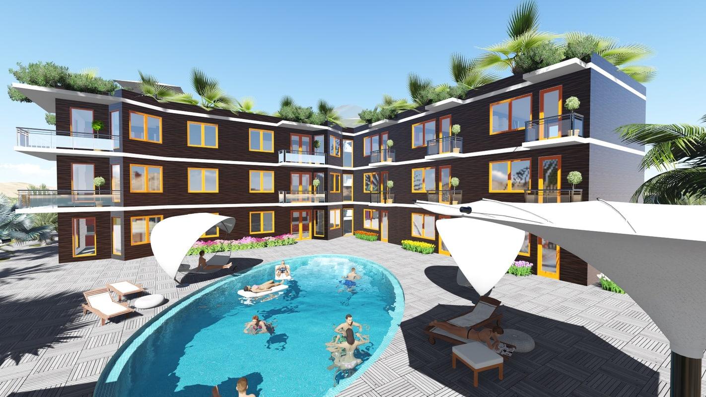 3d greenhotel model