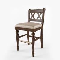 bar stool chatham 3d obj