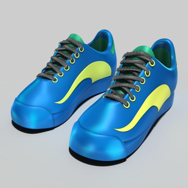 generic ladies tennis shoes 3d obj