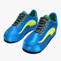 generic ladies tennis shoes 3d obj