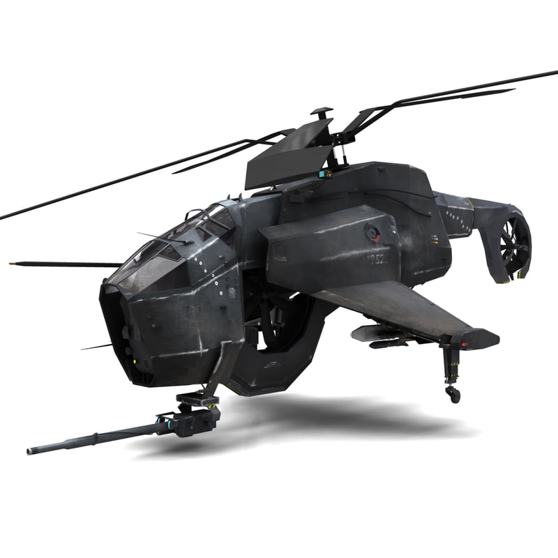 combine helicopter hunter-chopper 3d model