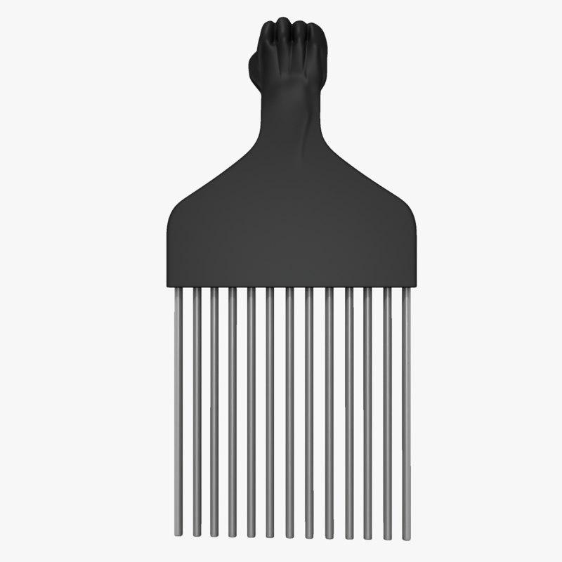 afro comb obj