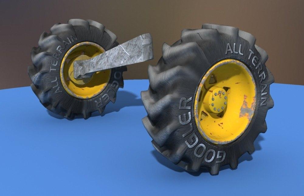 wheels machines 3d model