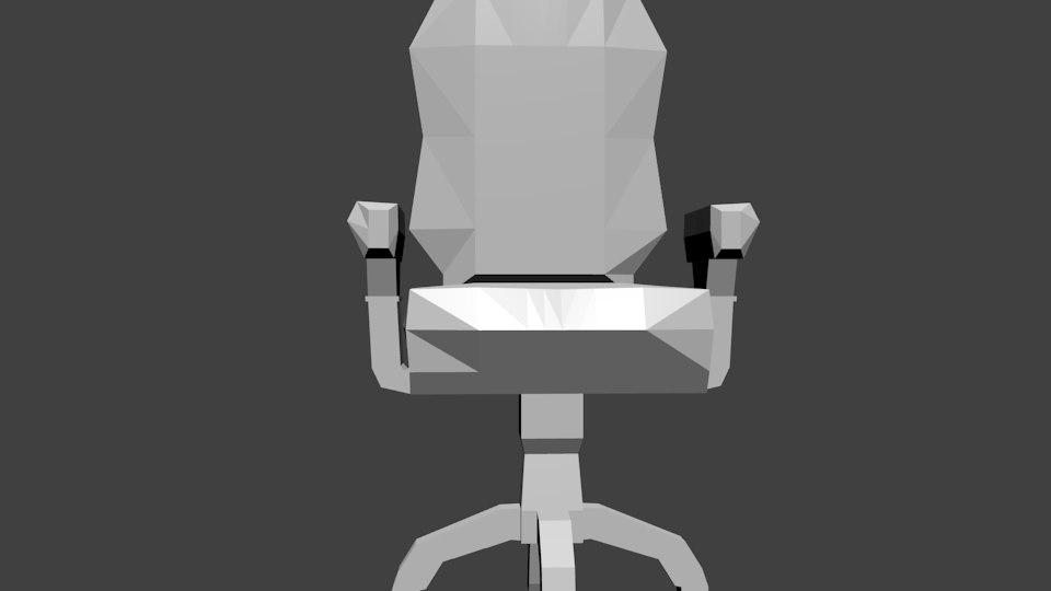 computer chair 3d blend