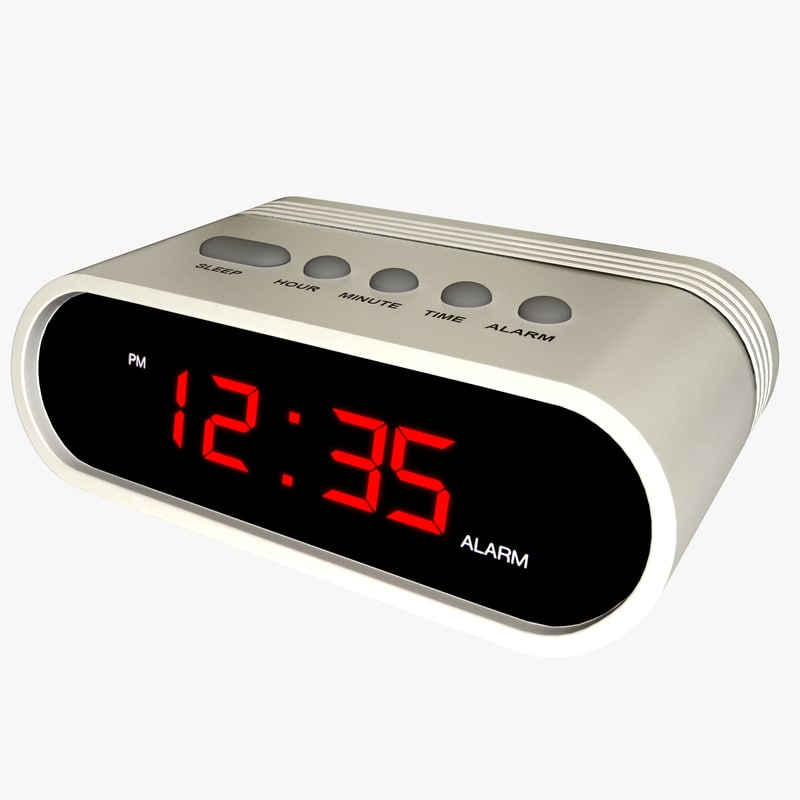 generic digital alarm clock 3d model. Black Bedroom Furniture Sets. Home Design Ideas