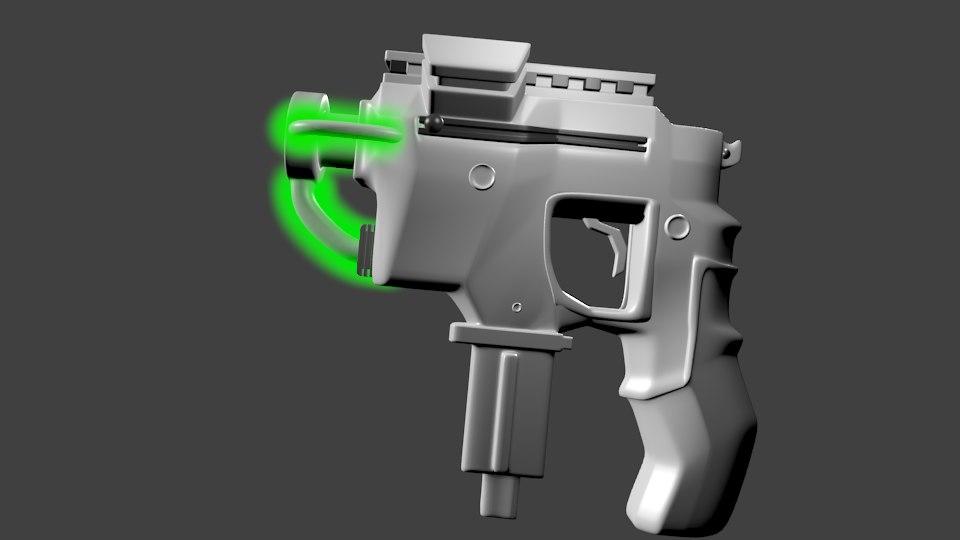 scifi gun blend