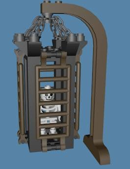 3d model lego hanging cage