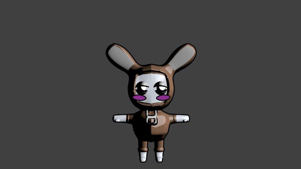 blender cute animal character